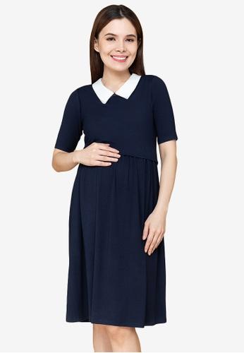 MOTHER 2 BE blue Dessa Maternity Dress 2310DAA6039E5DGS_1