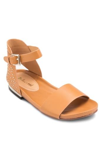 鉚釘繞踝涼鞋esprit香港門市, 女鞋, 鞋