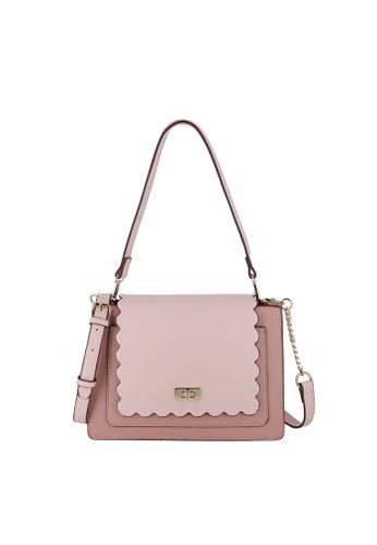 SEMBONIA pink Turnlock Shoulder Bag D7D0EAC6833518GS_1
