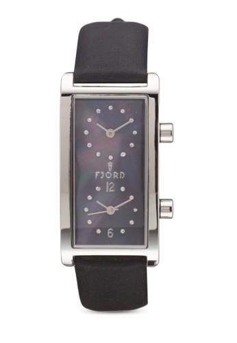 Emmaesprit暢貨中心 雙時區方形錶, 錶類, 飾品配件