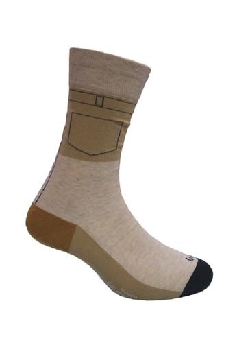 Mundo beige Mundo Jeans Casual Men Sock - JN2P007 121E6AA332E9FDGS_1