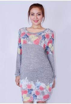 Sweater floral Dress