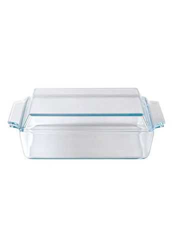 Slique n/a Premium Borosilicate Square Glass Baking Dish With Lid 1500ml 9B5DEHLCA3CDCAGS_1