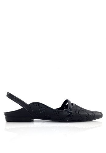 Twenty Eight Shoes black Pointed Slingback Jelly Rain Shoes VR180A 85423SH4690672GS_1