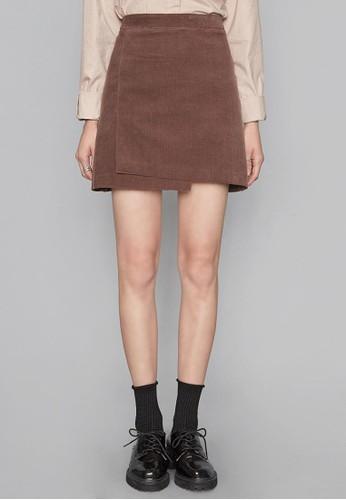 燈芯絨不對稱短裙, 服飾, esprit outlet 高雄迷你裙