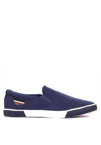 H2Ocean blue Chevalier Slip on Sneakers 616ABSHE8D7697GS_1