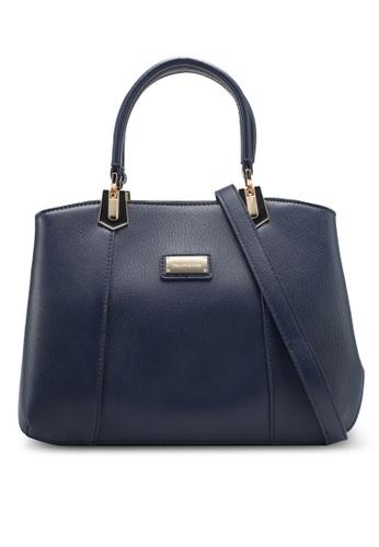 Perllini&Mel navy Faux Leather Satchel Top Handle Bag PE444AC0SIZAMY_1