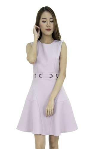 MOONRIVER pink Emma Classic Fit And Flare Dress MO886AA0GLSHSG_1