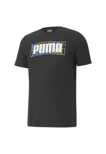 PUMA black PUMA Athletics Big Logo Men's Tee 40B9CAADEA9AE3GS_1