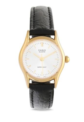 Casio black Casio Jam Tangan Wanita - Black Gold - Leather Strap - LTP-1094Q-7ARDF 44599ACA09C54FGS_1