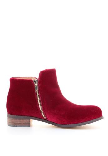 PRODUIT PARFAIT red Velvet Ankle Boots 56F24SHEAA4F50GS_1