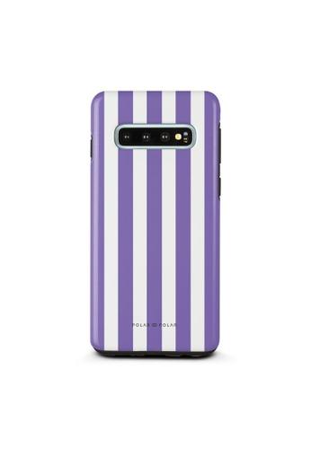 Polar Polar purple Purple Stripe Dual-Layer Tough Case Glossy For Samsung Galaxy S10 0BAD9AC0B0700BGS_1