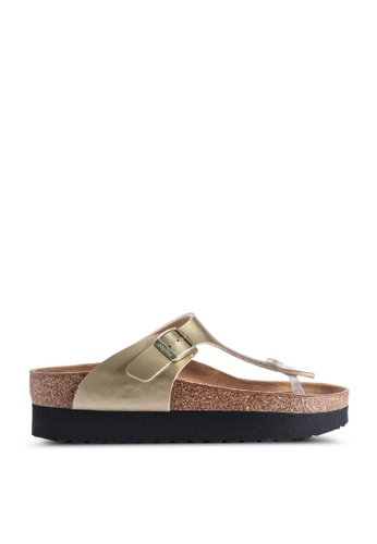 factory authentic for whole family purchase cheap Shop Birkenstock Gizeh Pure Metallic Sandals Online on ZALORA ...