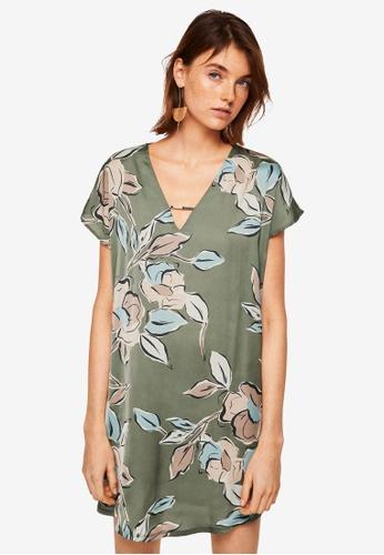 Mango green Contrasting Design Dress C6718AAF62AD44GS_1