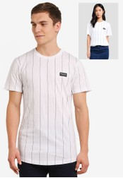 Nicce London white Needle Stripe T-Shirt NI146AA0SBJUMY_1