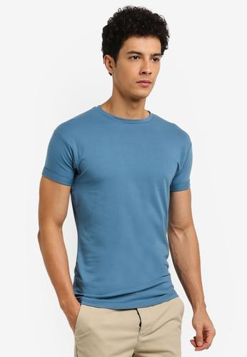 Topman blue Ultra Muscle T-Shirt 026F5AA8AC570FGS_1