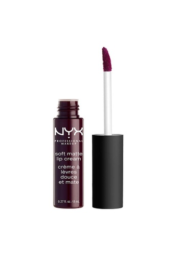 NYX Professional Makeup purple NYX Professional Makeup Soft Matte Lip Cream - TRANSYLVANIA 07C11BE5C2B53DGS_1