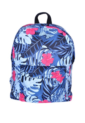 Adkidz blue Adkidz floral printed backpack 9578CKCC74FEB1GS_1