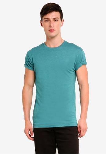 Topman 綠色 修身T恤 1391EAA02C0799GS_1