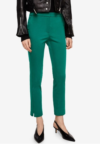 Mango green Crop Slim-Fit Trousers 41C87AAA131F54GS_1