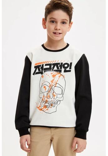 DeFacto white Boy Knitted Sweat Shirt AA392KA6114AF0GS_1