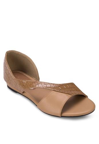 鏤空暗紋平底鞋, 女鞋, 懶zalora 包包評價人鞋