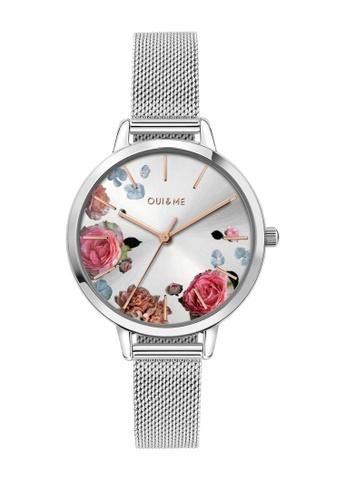 Oui & Me silver Fleurette Quartz Watch Silver Metal Band Strap ME010104 04EAEACF8E4E62GS_1