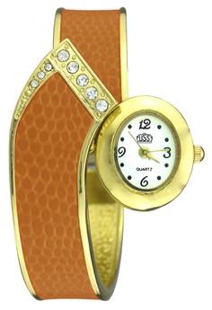 Seth Lightweight Snake-Bangle Wrist Watch
