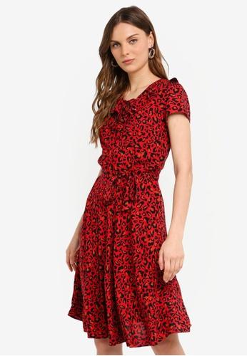 c72f925f6e63 Dorothy Perkins red Billie & Blossoms Red Leopard Ruffle Dress  BD2BEAAE0CA463GS_1