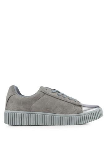 Something Borrowed grey Top Cap Sneakers E1067SH1FDB67CGS_1