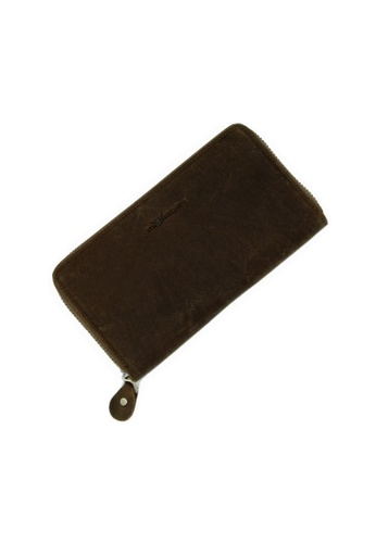 EXTREME brown Extreme Genuine Leather Fullzip Long Wallet RFID Prevention Dark Brown 88DD7ACE4AC156GS_1