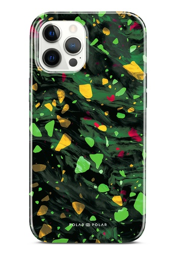 Polar Polar green Malachite Terrazzo Gem Dual-Layer Tough Case Glossy For iPhone 12 Pro Max 0C914ACB06CE94GS_1