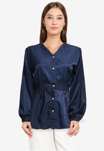 BYN blue Muslimah Long Sleeve Top 7B4FEAAB1BDC1EGS_1