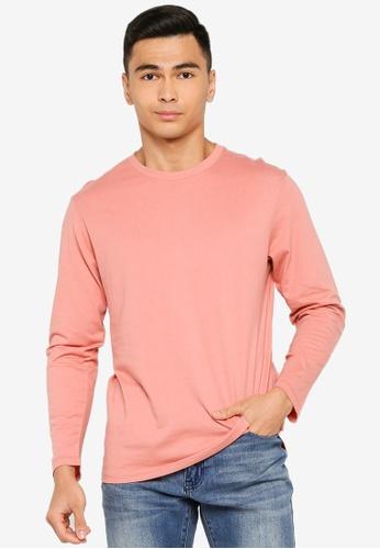 Electro Denim Lab pink Long Sleeve Tee D06FAAADB035C0GS_1