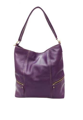 Shop IXACC Violet Leather Hobo Handbags Online on ZALORA Philippines