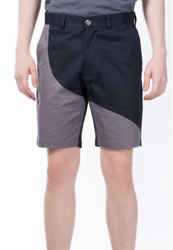 CONTROLLED COMMODITY grey The Essential Chino Shorts in Navy and Dark Gray CO323AA82ORPSG_1