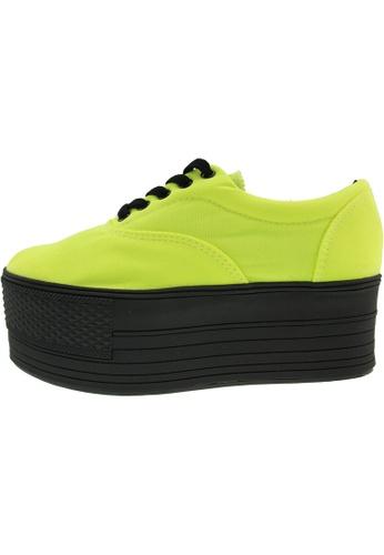 Maxstar 綠色 新款韩国鞋C60-5H時尚帆布布混合女綠色 US Women Size MA345SH56HGLTW_1