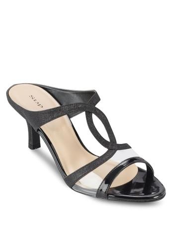 交叉帶露趾高跟鞋, 女鞋, 細帶高zalora 男鞋 評價跟鞋