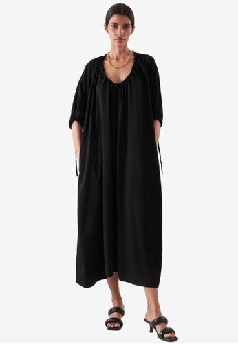 COS black Drawstring Dress 983CDAA46F432CGS_1