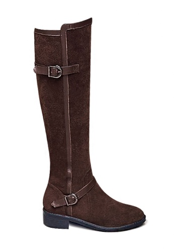 Twenty Eight Shoes brown Leather Trimming Riding Boots VB333 3367DSHCD52E13GS_1