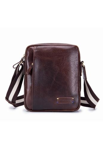 8fa08240b985 ENZODESIGN brown ENZODESIGN Vintage Buffalo Men's Leather Cross Body Bag  SG11424BRN D61B1ACAB8E9E3GS_1