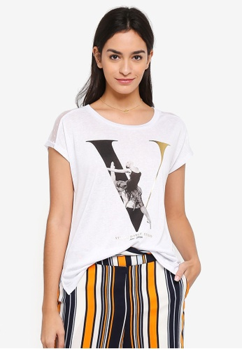 ONLY white Pami Mix Box Tee 43C52AA15C16F3GS_1