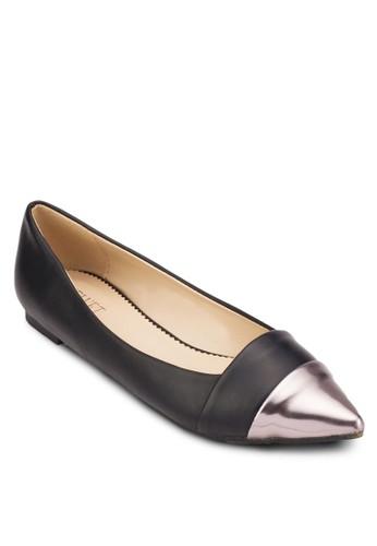 Rhonda 亮面尖頭平底鞋, 女esprit旗艦店鞋, 鞋
