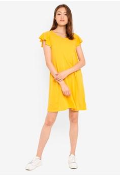 2dba17e5e4566 35% OFF GAP Short Sleeve Flutter Swing Dress S$ 68.90 NOW S$ 44.70 Sizes  XXS XS S M L