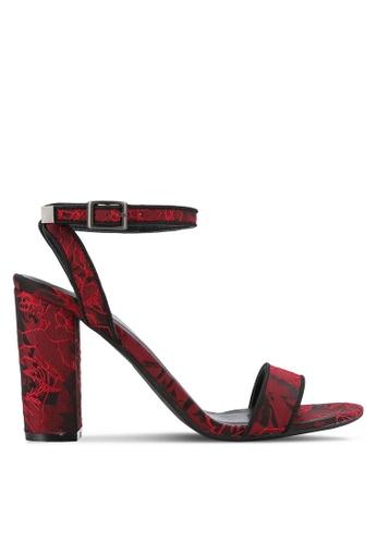 ZALORA red Ankle Strap Sandal Heels A2B17SHA5B2CE4GS_1
