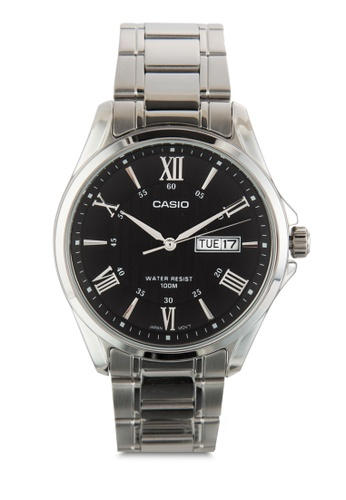 Casio silver Casio Enticer Analog Black Dial Men's Watch CA843AC53JREMY_1