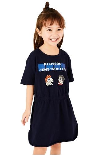 M.Latin navy Graphic Printed T-Shirt Dress E2E73KA51C909EGS_1