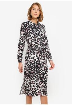 9688dc9cfe2e Wallis black and multi Pink Animal Print Shirt Dress 963C9AAEC5223CGS_1