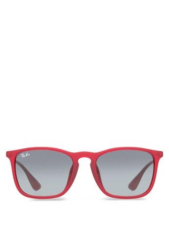 Ray-Ban red Chris  RB4187 Sunglasses RA370GL54GPHSG_1