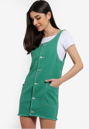 ZALORA 綠色 吊帶洋裝 CDC96AA8FA5670GS_1
